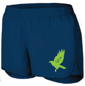 Girls Navy Shorts with Green Hawk