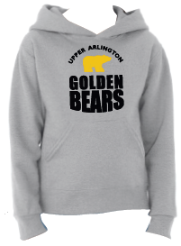Golden Bears Hoodie Sweatshirt Grey